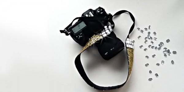 Photography Tips | DIY Bling Camera Strap